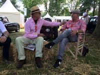 Arno Wahl im Gespräch mit Horst Lichter auf den Classic Days in Schloss Dyck.