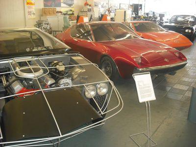 Prototypen aus den späten 60ern / frühen 70ern: Unterbau des angedachten Diplomat CD Coupés, möglicher Manta-Nachfolger und Genève (v.l.)