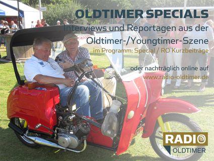 """Oldtimer-Specials - Interviews und Reportagen aus der Oldtimer-/Youngtimer-Szene: im Programm """"Special/RO Kurzbeiträge"""" oder hier zum Nachhören"""